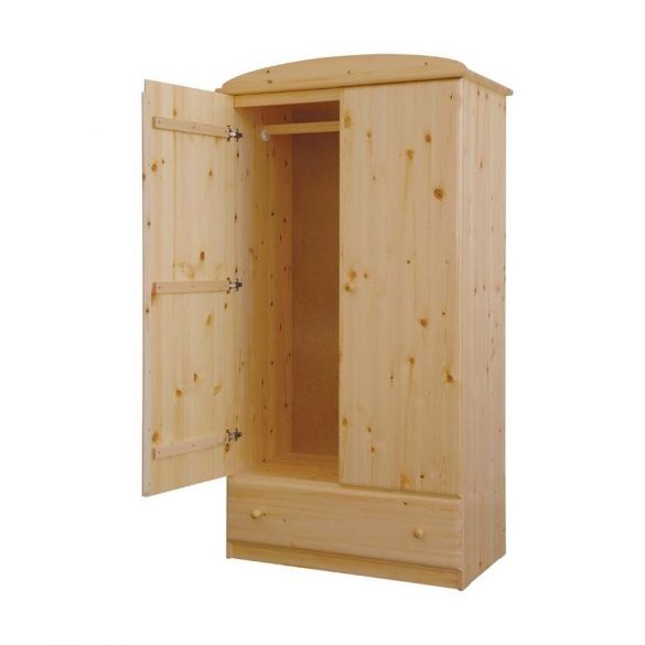 Csanád 2 ajtós, 1 fiókos szekrény, akasztós
