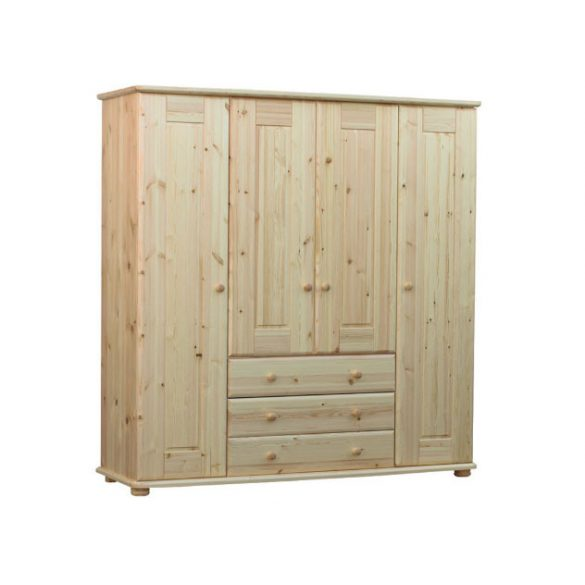 Viki 4 ajtós, 3 fiókos szekrény (gardrób)