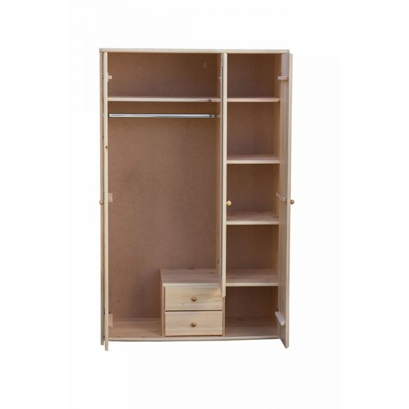 Zsombor 3 ajtós, 2 fiókos, középen tükrös szekrény