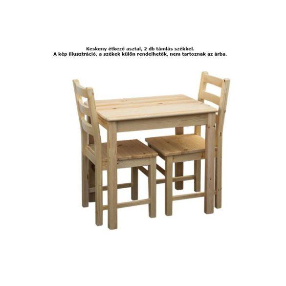 Zsombor keskeny étkező asztal