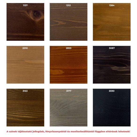 Zsombor 2 ajtós, 4 fiókos komód, szélső fióksorral