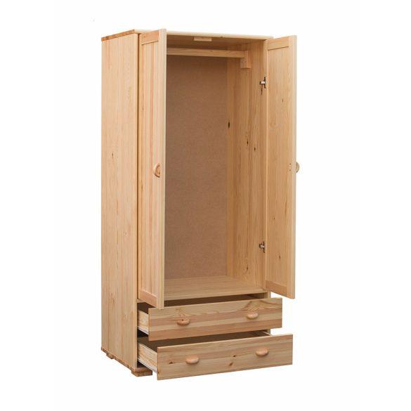 Vanessa 2 ajtós, 2 fiókos szekrény, akasztós