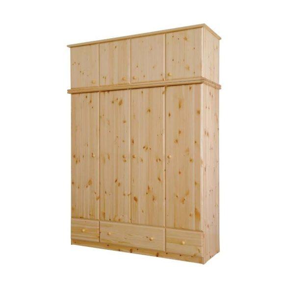 Csanád 4 ajtós szekrény magasító