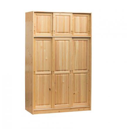Fruzsi 3 ajtós (tolóajtós) fenyő szekrény