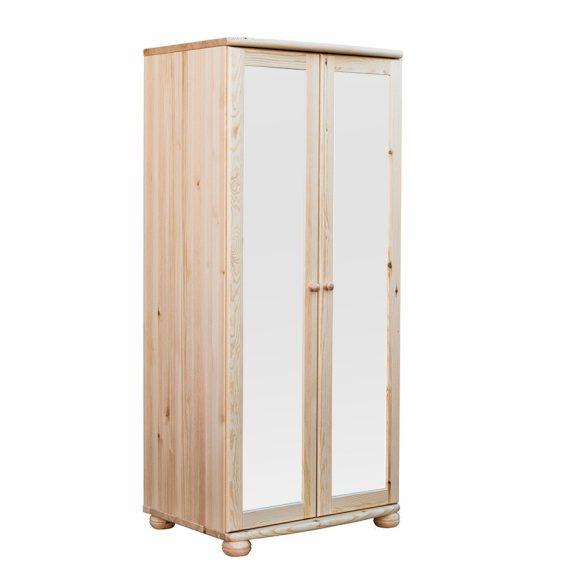 Claudia 2 ajtós, teli tükrös nagyszekrény (akasztós)