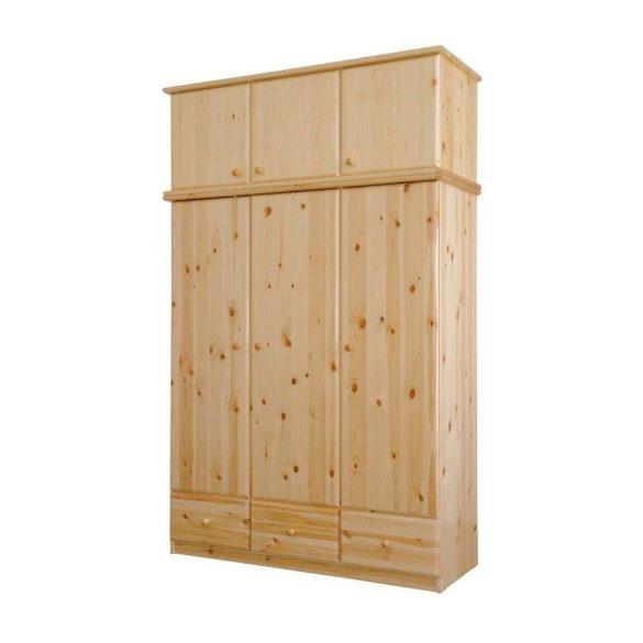 Csanád 3 ajtós, 3 fiókos szekrény magasító