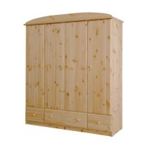 Csanád 4 ajtós, 3 fiókos szekrény (gardrób)