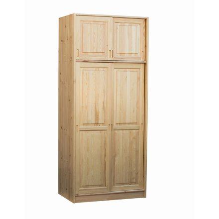 Fruzsi 2 ajtós (tolóajtós) fenyő szekrény