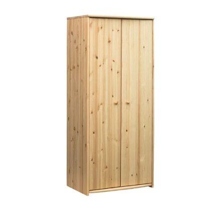 Zsombor 2 ajtós akasztós-polcos fenyő szekrény