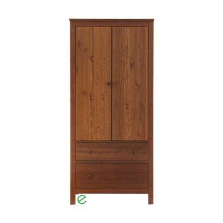 Szilaj 2 ajtós, 2 fiókos akasztós fenyő szekrény