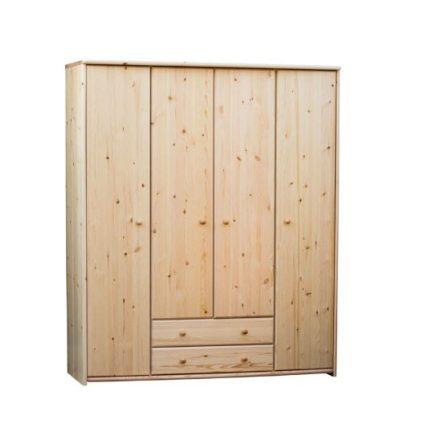 Zsombor 4 ajtós, 2 fiókos szekrény