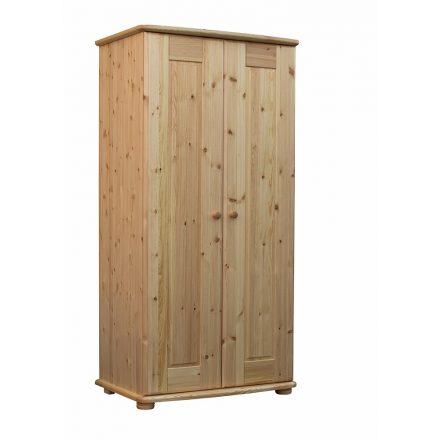 Viktória 2 ajtós, akasztós-polcos fenyő szekrény