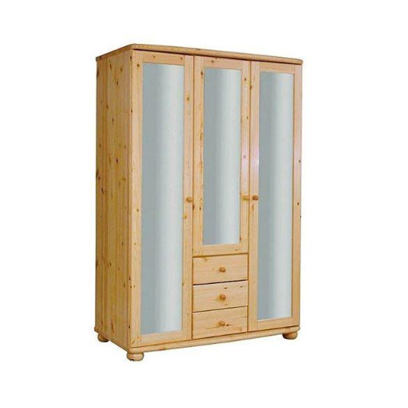 Claudia 3 ajtós, 3 fiókos, teli tükrös szekrény