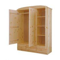 Csanád 3 ajtós, 3 fiókos szekrény