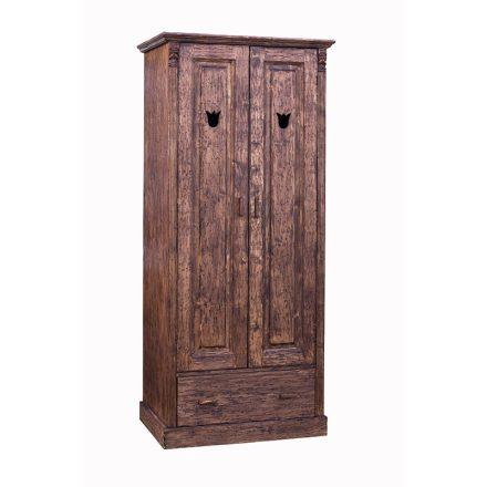 Katus 2 ajtós, 1 fiókos akasztós fenyő szekrény