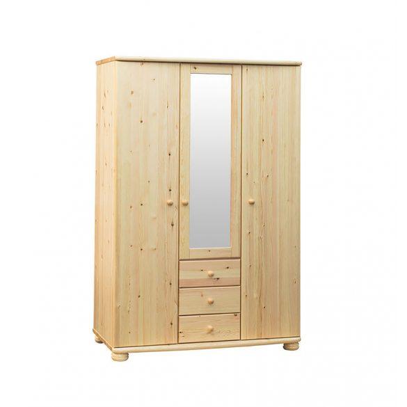Claudia 3 ajtós, 3 fiókos, középen tükrös szekrény