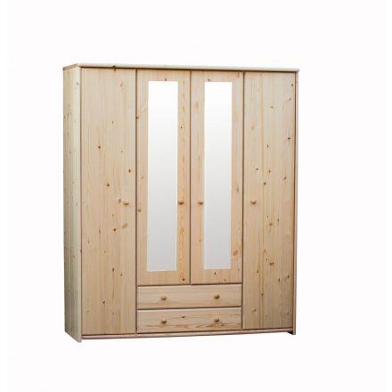 Zsombor 4 ajtós, 2 fiókos szekrény, középen tükrös