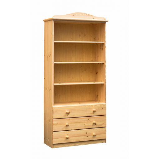 Fruzsi 3 fiókos nyitott könyves szekrény