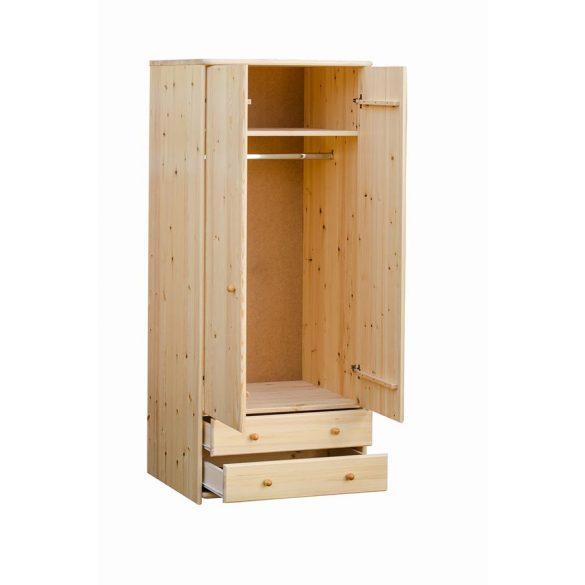 Zsombor 2 ajtós, 2 fiókos, akasztós szekrény