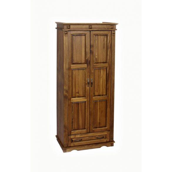 MS antik 2 ajtós, fiókos, akasztós szekrény CLA224