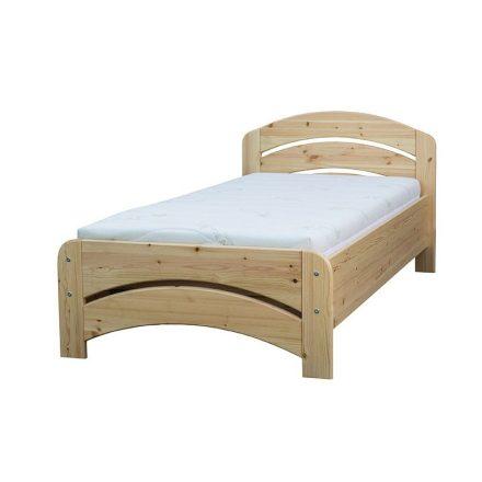 Gála  ágyneműtartós, egyszemélyes fenyő ágy