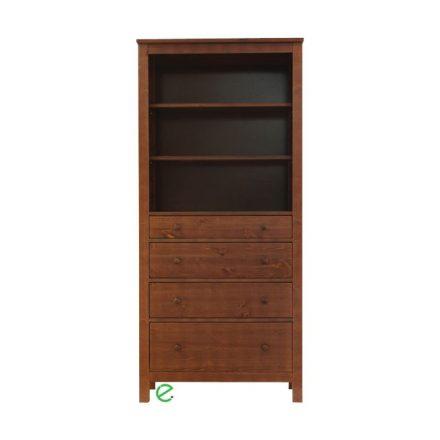 Szilaj 4 fiókos nyitott fenyő szekrény