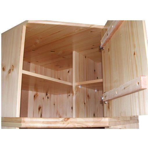 Csanád 1 ajtós sarok szekrény magasító