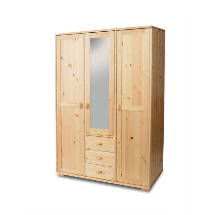 Vanessa 3 ajtós, 3 fiókos, középen tükrös fenyő szekrény