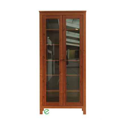 Szilaj 2 ajtós vitrines fenyő szekrény